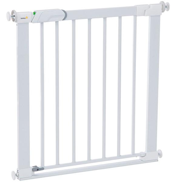Safety 1st Flat Step Türschutzgitter zum Klemmen, ultraflache Bodenverstrebung,73-80 cm, weiß