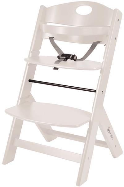 BabyGo Hochstuhl Family Buche massiv Treppenhochstuhl höhenverstellbar,white