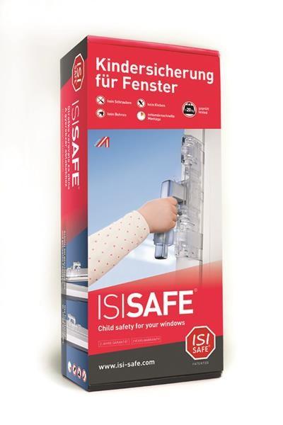 ISI Safe Kindersicherung für Fenster, Balkon- und Terrassentüren,Transparent
