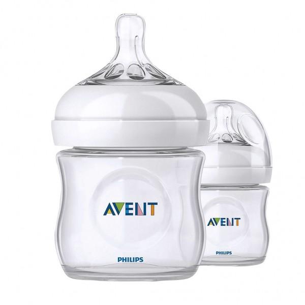 Philips AVENT Naturnah Flasche,125 ml,2er-Pack Kunststoff, ab Geburt