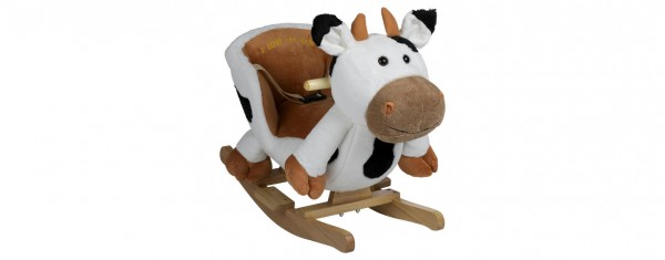 """Schaukeltier """"Kuh"""" mit Gurt - kuscheliger Spielspaß ab 6 Monaten"""