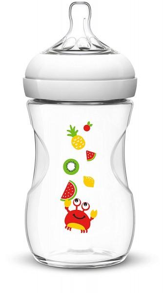Philips AVENT Naturnah Flasche,260 ml, Kunststoff, ab 1M, Krabbe