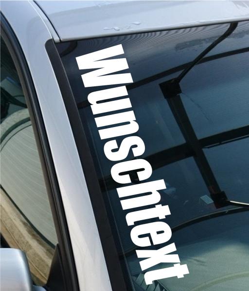 Autoaufkleber WUNSCHTEXT bis 40cm breiter Schriftzug