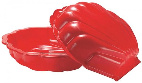 Sand/Wassermuschel 2teilig ,Rot ,87x79x20 cm