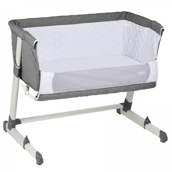 BabyGo Beistellbett Together, 6-fach höhenverstellbar, Grey