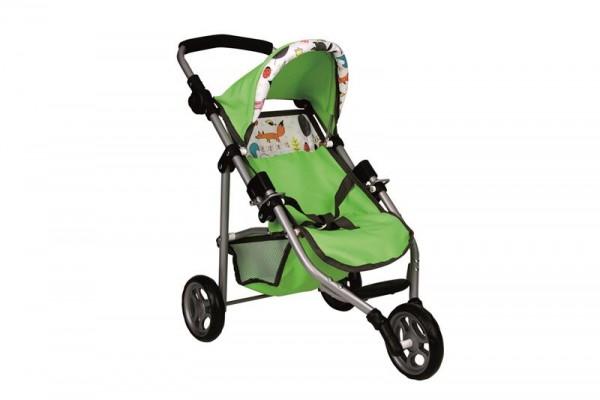 Puppen-Buggy, 3 Rad ,ANIMAL/GREEN